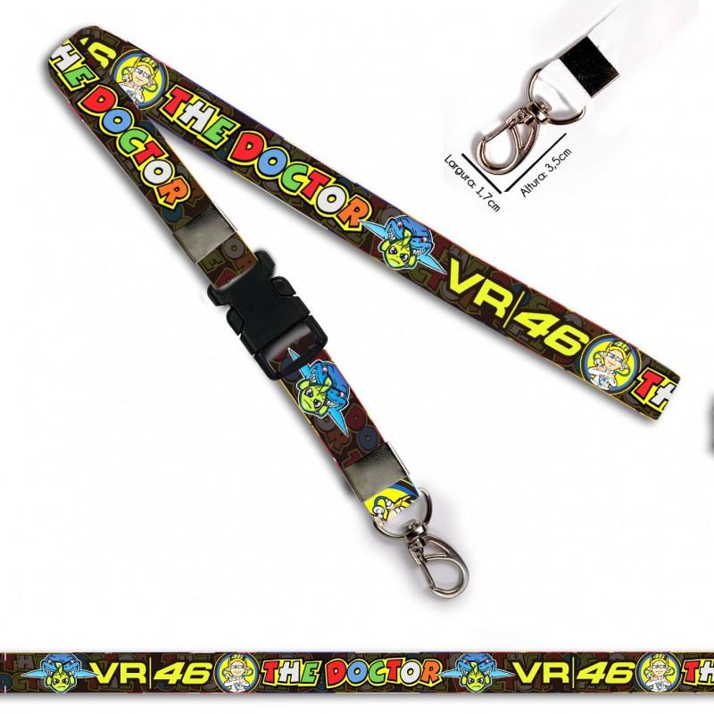 Chaveiro Valentino Rossi The Doctor 46 C0534P Mosquetão Engate
