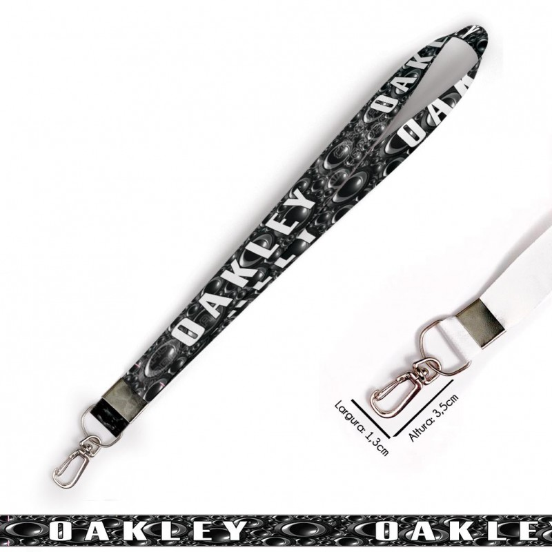 Cordão oakley C0550P com Mosquete Retrô
