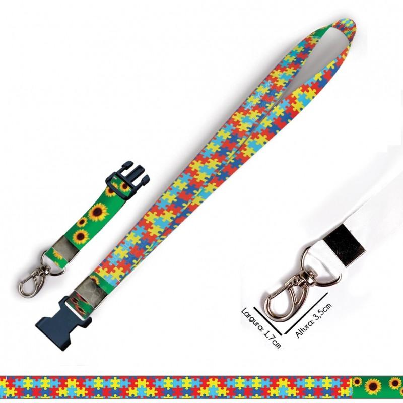 Chaveiro Quebra Cabeças Girassol C0622P Mosquetão Engate