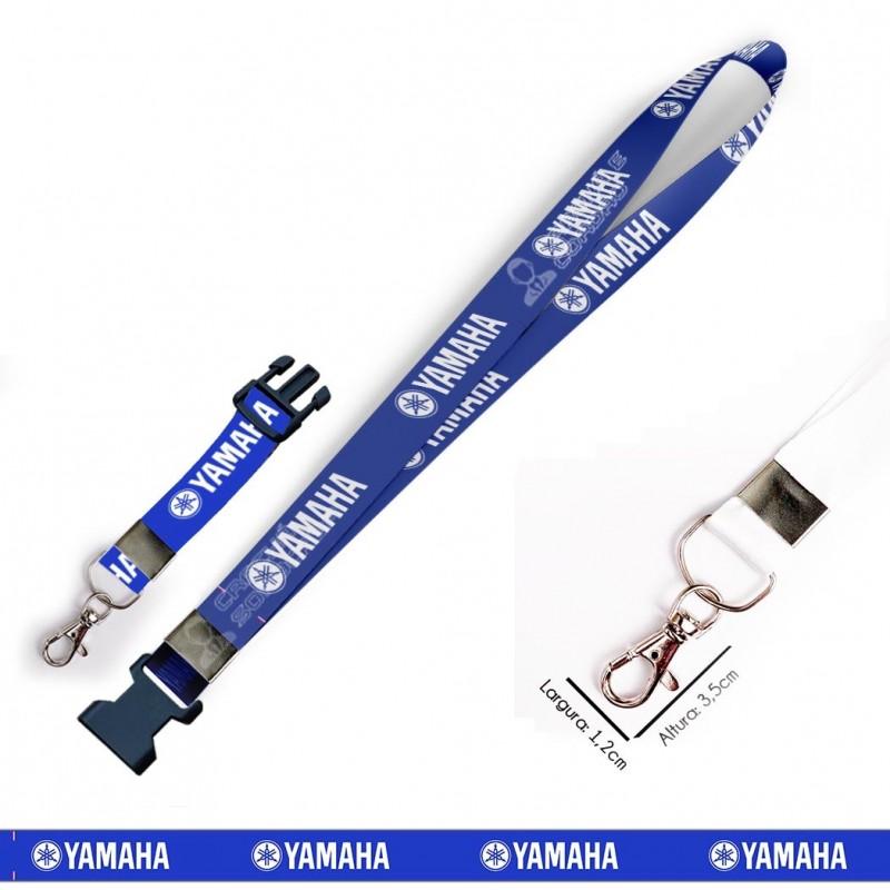 Chaveiro Yamaha - Azul C0628P com Mosquete e Engate Rápido