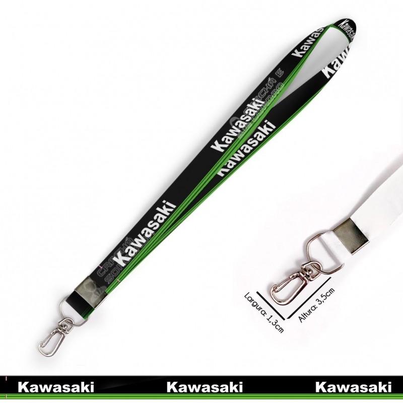 Cordão KAWASAKI MOTOS C0635P com Mosquete Retrô