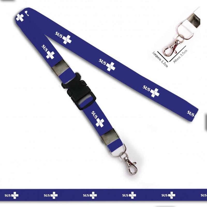 Chaveiro SUS Azul C0658P com Mosquete e Engate Rápido