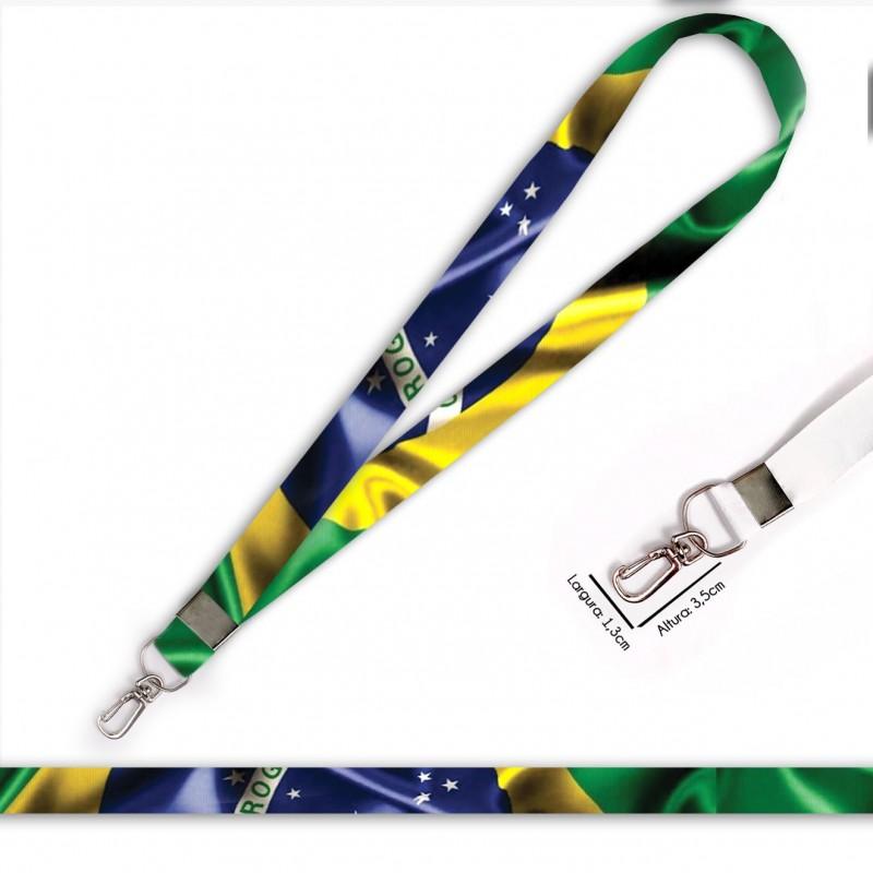 Cordão Bandeira Brasil C0688P com Mosquete Retrô