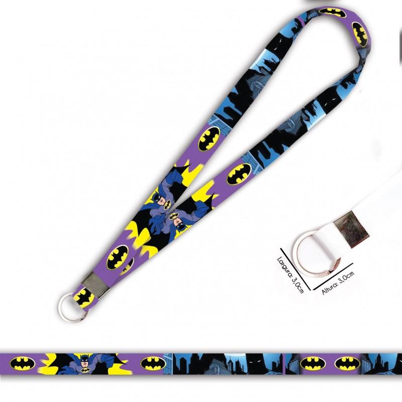 Cordão Batman Desenho Roxo C0694P com Argola Italiana