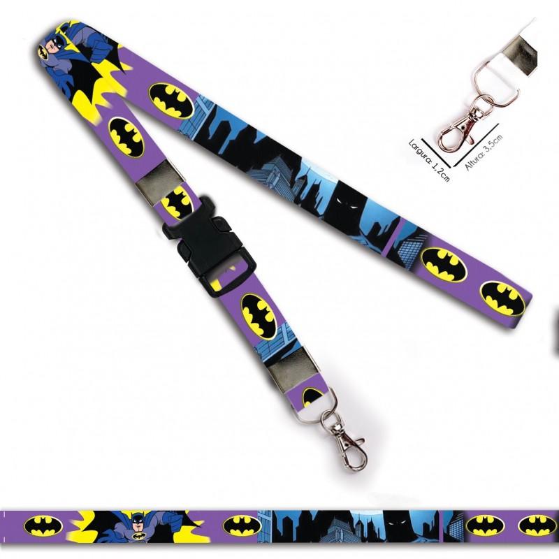 Chaveiro Batman Desenho Roxo C0694P com Mosquete e Engate