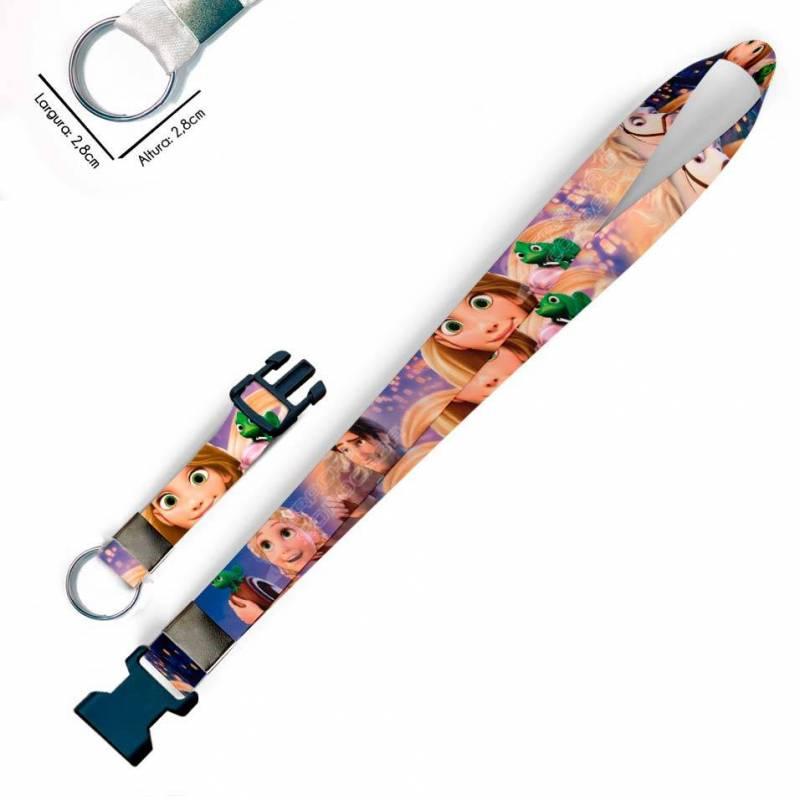 Rapunzel Enrolados C0097P Cordão, Chaveiro Argola Engate