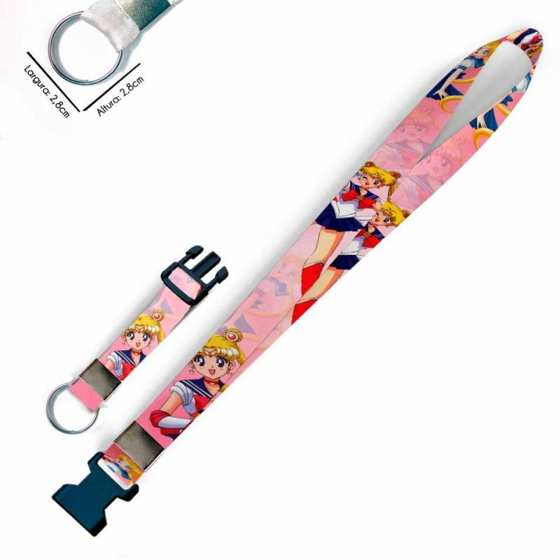 Sailor Moon C0506P Cordão, Chaveiro Moto Argola e Engate