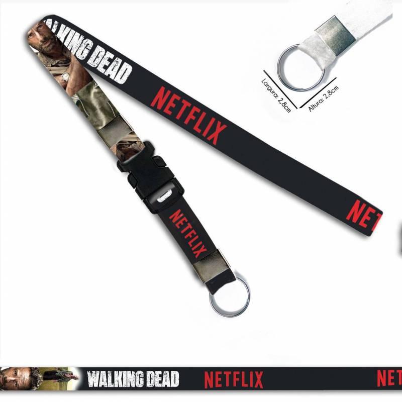 Walking Dead Rick C0090P Cordão, Chaveiro Argola Engate