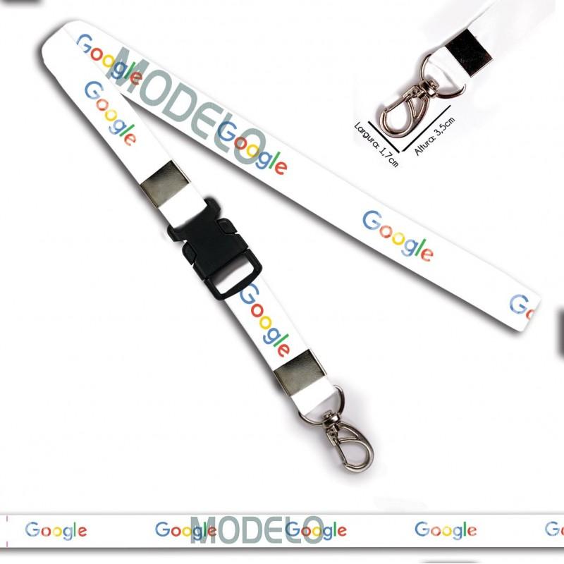 Chaveiro Google C0011P com Mosquetão e Engate Rápido