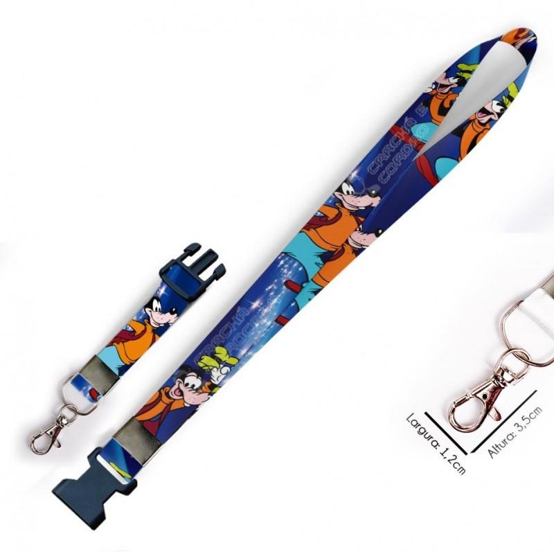 Chaveiro Pateta Disney C0022P com Mosquete e Engate Rápido