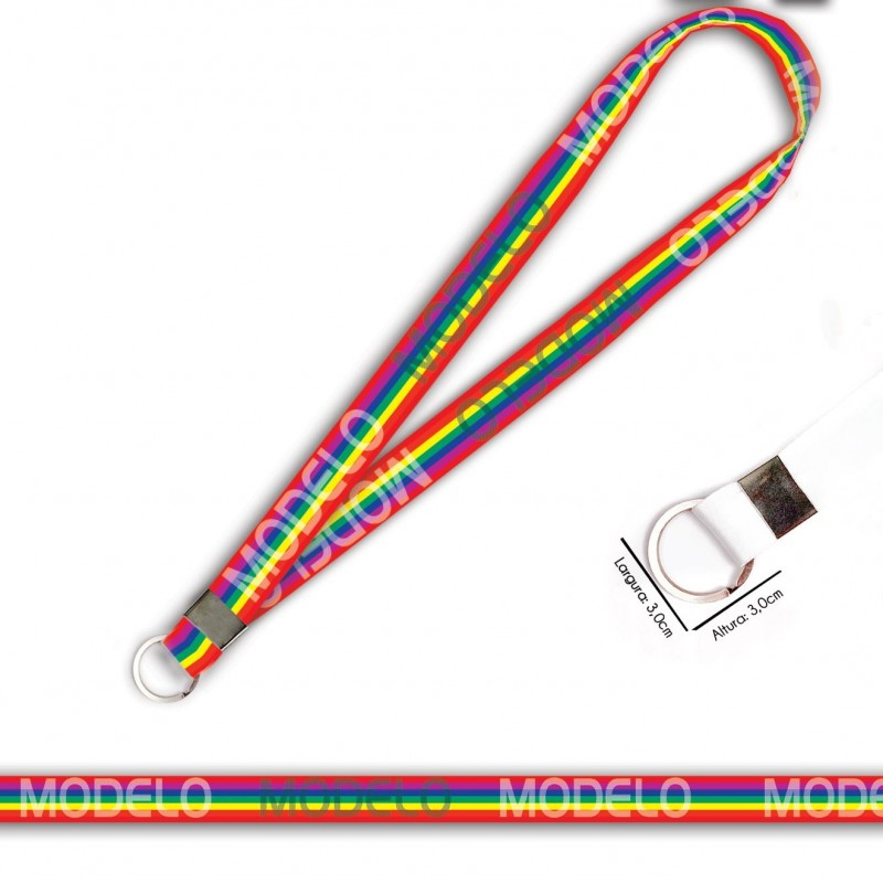 Cordão Arco iris C0029P com Argola Italiana
