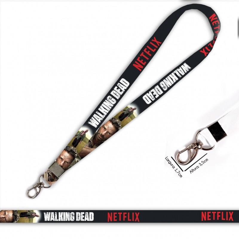 Cordão Walking Dead Rick C0090P com Mosquetão