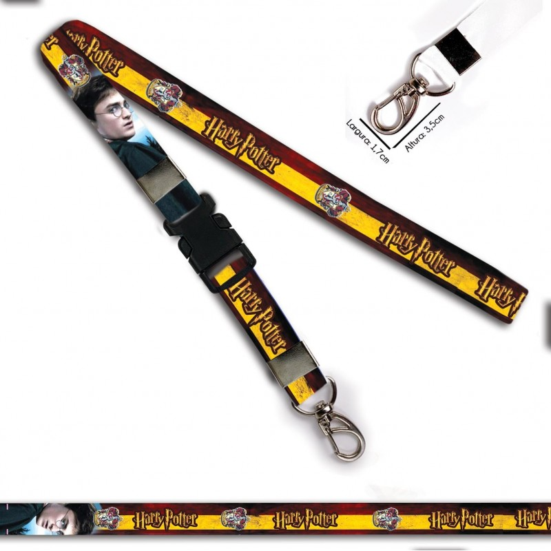 Chaveiro Harry Potter Grifinoria C0105P Mosquetão e Engate