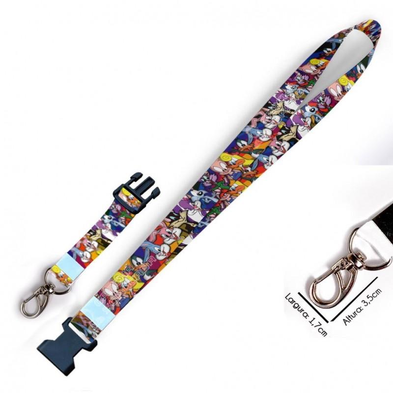 Chaveiro Looney Tunes C0155P com Mosquetão e Engate Rápido