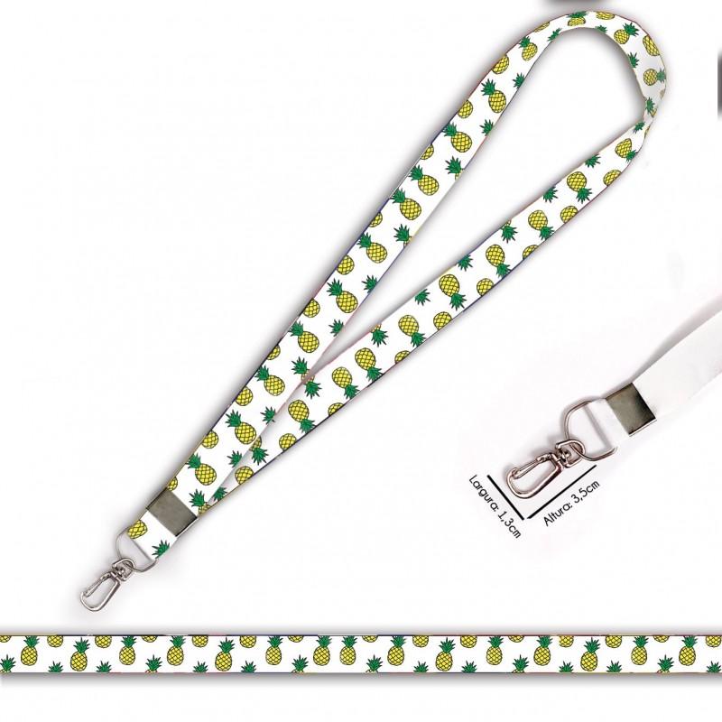 Cordão Estampa Abacaxi C0224P com Mosquete Retrô