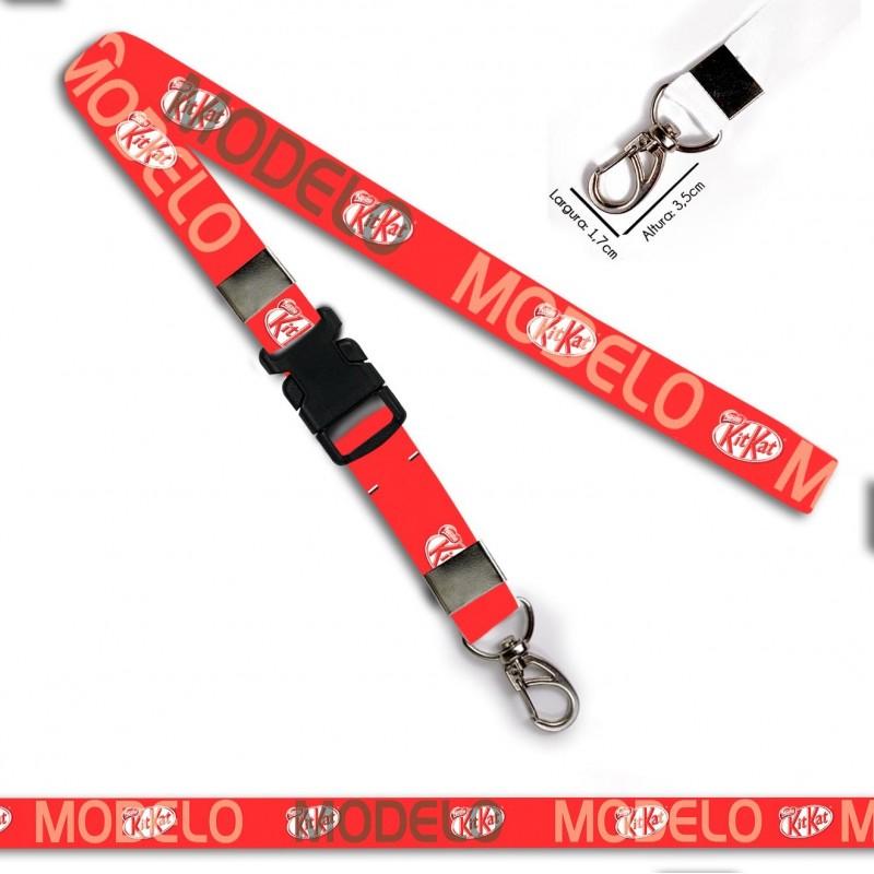 Chaveiro KitKat C0379P com Mosquetão e Engate Rápido
