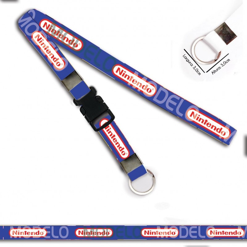 Chaveiro para Moto Nintendo C0434P Argola Italiana e Engate