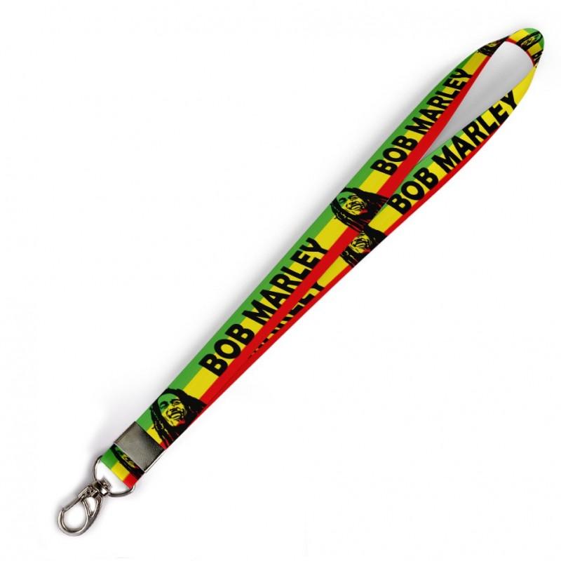 Cordão Bob Marley C0487P com Mosquetão
