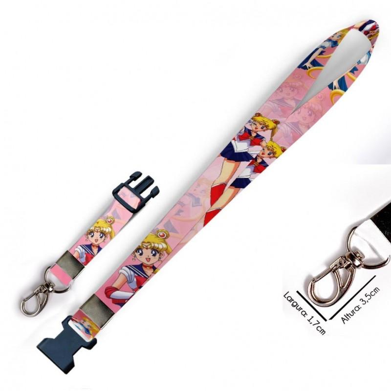 Chaveiro Sailor Moon C0506P com Mosquetão e Engate Rápido